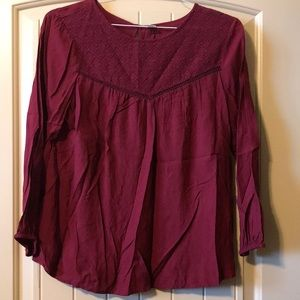 Old Navy maroon  shirt size M